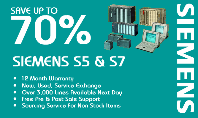 Save up to 70% on Siemens SIMATIC s5 , s7, operator panels.